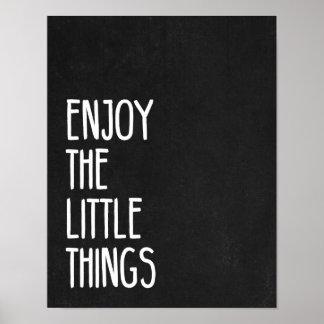 Appréciez les petites choses poster
