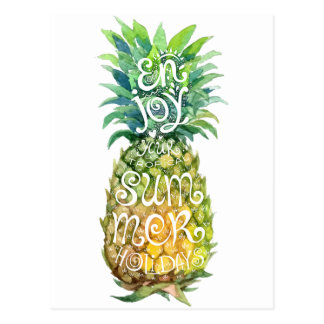 Appréciez vos vacances d'été tropicales carte postale
