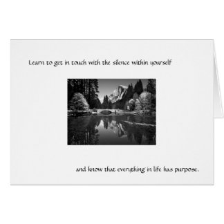 Apprenez à contacter le silence… cartes de vœux