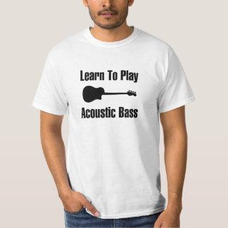 Apprenez à jouer la basse acoustique t-shirt