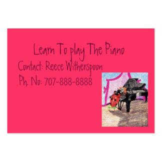 Apprenez à jouer le piano carte de visite grand format