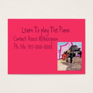 Apprenez à jouer le piano cartes de visite