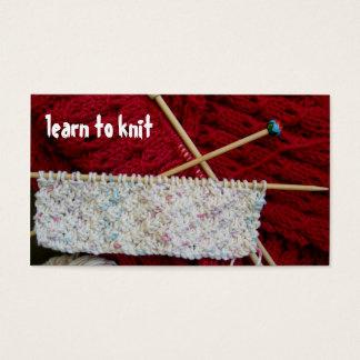 Apprenez à tricoter le modèle de carte de visite