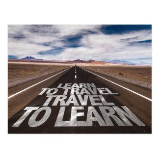 Apprenez à voyager voyage à apprendre carte postale