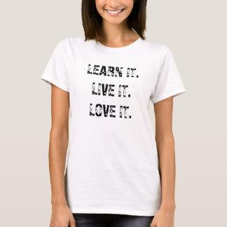 APPRENEZ IT.LIVE IT.LOVE IL T-SHIRT