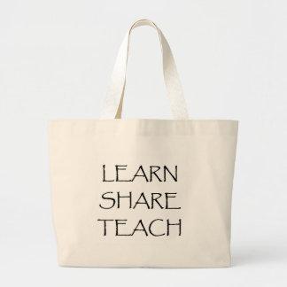 Apprenez que la part enseignent grand sac