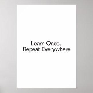Apprenez une fois répétez partout