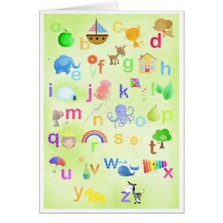 Apprenez votre ABC - cartes de voeux