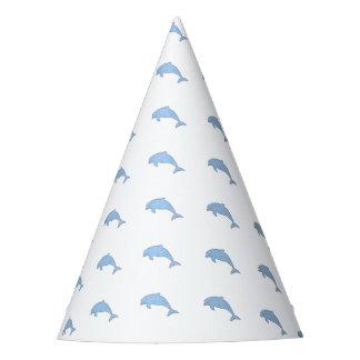Approvisionnements bleus de partie de dauphins chapeaux de fètes