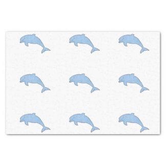 Approvisionnements bleus de partie de dauphins papier mousseline