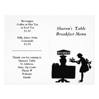 Approvisionnements de restaurant, menu de petit prospectus 21,6 cm x 24,94 cm