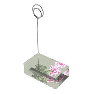 Approvisionnements rouges et roses de mariage de porte-carte de table
