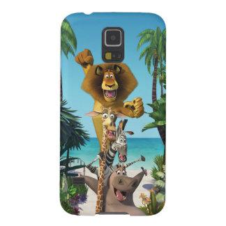Appui d'amis du Madagascar Coque Galaxy S5