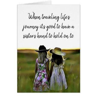 Appui d'amour de soeur et carte d'encouragement