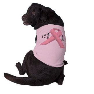 Appui de cancer du sein t-shirt pour chien