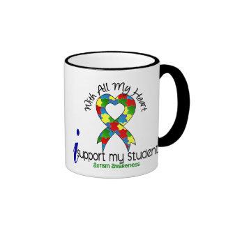 Appui de l'autisme I mes étudiants Mug Ringer