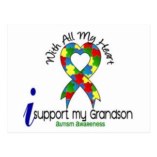 Appui de l'autisme I mon petit-fils Carte Postale