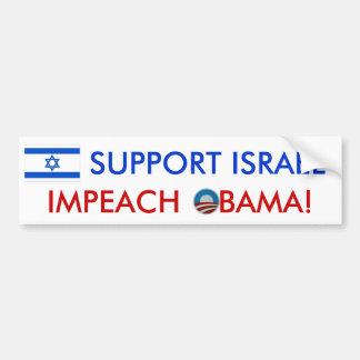 Appui Israël ! Attaquez Obama ! adhésif pour pare- Autocollant De Voiture