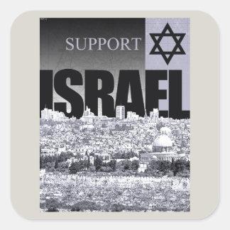 Appui Israël Sticker Carré