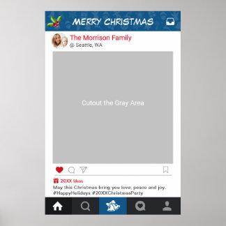 Appui vertical classique de photo de fête de Noël Poster