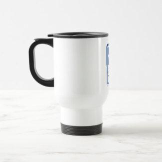 Appuyez sur le bouton pour croiser, poteau de mug de voyage en acier inoxydable