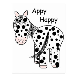 Appy heureux - Appaloosa de léopard Cartes Postales