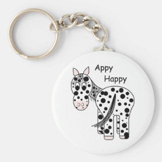 Appy heureux - Appaloosa de léopard Porte-clé Rond