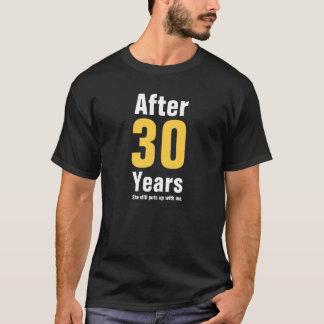 Après 30 ans elle m'acceptait toujours t-shirt