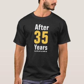 Après 35 ans elle m'acceptait toujours t-shirt