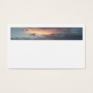 Après des cartes de visite de coucher du soleil de