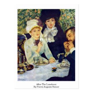Après le déjeuner par Pierre-Auguste Renoir Carte Postale