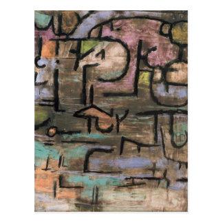 Après les inondations par Paul Klee Carte Postale