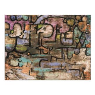 Après l'inondation par Paul Klee Carte Postale