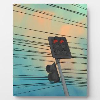 Après-midi de feu de signalisation photos sur plaques