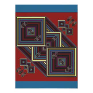 Après, présent et futur carton d'invitation  16,51 cm x 22,22 cm
