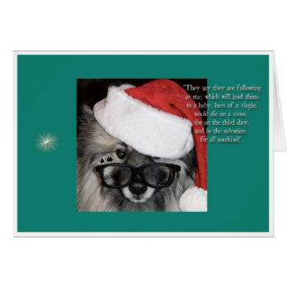 Après une carte de Noël d'étoile