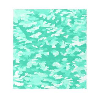 Aqua abstrait d'art de bruit de feuillage blocs notes