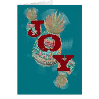 Aqua de carte de Noël d'ananas de JOIE
