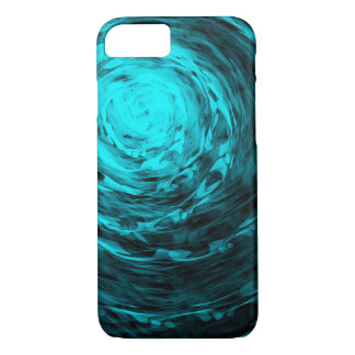 Aqua en spirale organique - coque iphone d'Apple