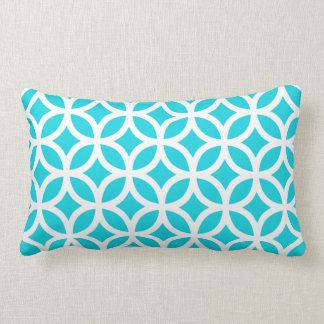 Aqua géométrique oreiller