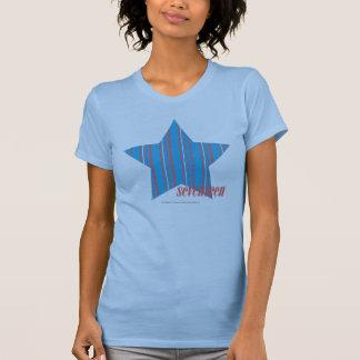 Aqua mince 2 de rayures t-shirt