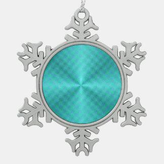 Aqua/ornement simplistes de Green>Snowflake Ornement Flocon De Neige Pewter