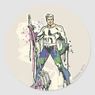 Aquaman - couleur tordue d'innocence sticker rond