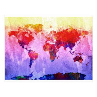 aquarelle 22 de carte du monde