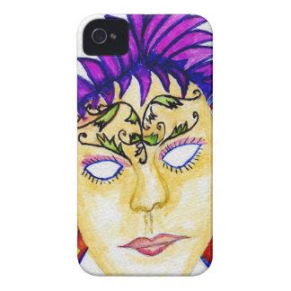 Aquarelle 2 de masque de carnaval coques iPhone 4