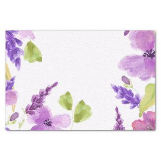 Aquarelle assez pourpre florale papier mousseline