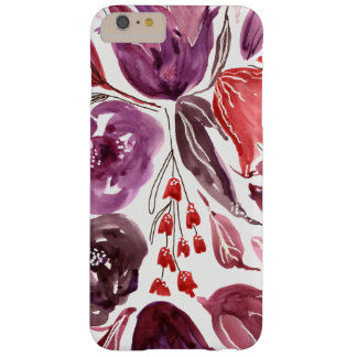 Aquarelle cas floral pourpre/rose de l'iPhone Coque Barely There iPhone 6 Plus