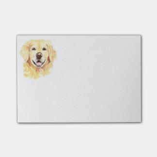 Aquarelle d'animal de compagnie de chien de golden