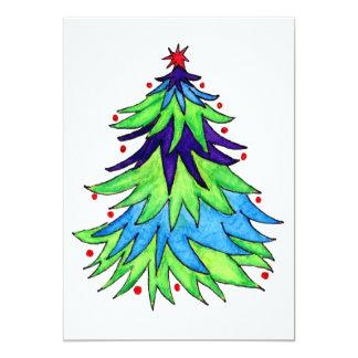 Aquarelle d'arbre de Noël Bristols Personnalisés
