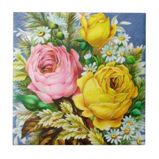 Aquarelle de bouquet floral d'automne carreaux